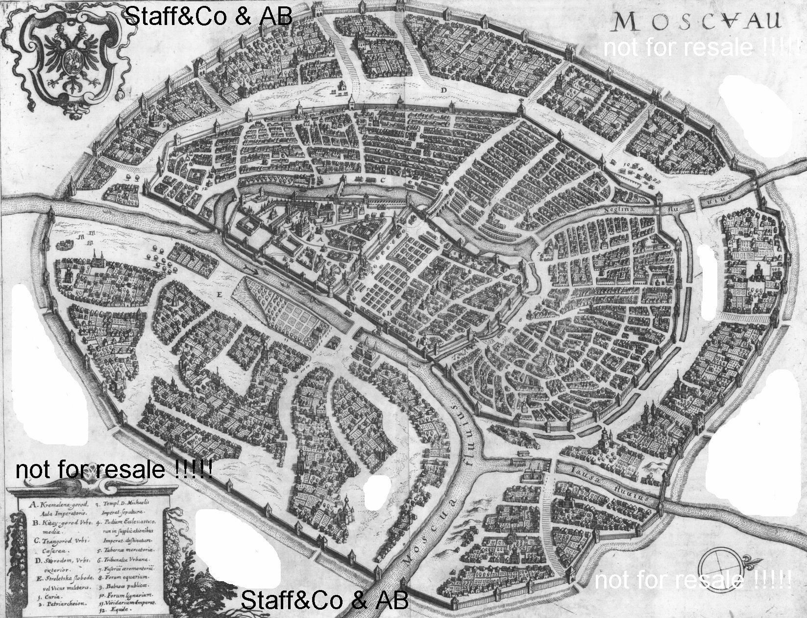 Карты Российской империи: План-карта г.Москвы (1630 г.): http://old-map.narod.ru/m2.html